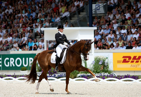 Bella Rose's extended trot improved noticeably in just the four days of competition at the CDIO5* in Aachen. © 2014 Ken Braddick/dressage-news.com