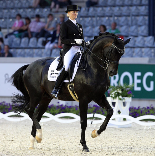 Jessica von Bredow-Werndl of Germany riding Unee BB to victory in the World Equestrian Festival CDI4* at Aachen. © 2014 Ken Braddick/dressage-new.com
