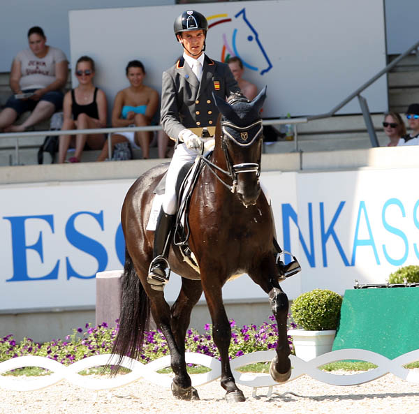 Juan Matute riding Don Diego Ymas in the Under-25 Grand Prix. © 2014 Ken Braddick/dressage-news.com