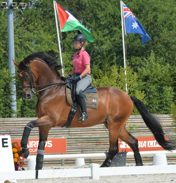 Kristy Oatley working Ronan at Deauville. © 2014 The Horse Magazine