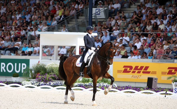 America's Laura Graves and Verdades competing ar Aachen. © 2014 Ken Braddick/dressage-news.com
