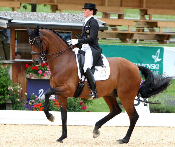 Lyndal Oatley competing on Sandro Boy for a place on the Australian team for the world championships. © 2014 Ken Braddick/dressage-news.com