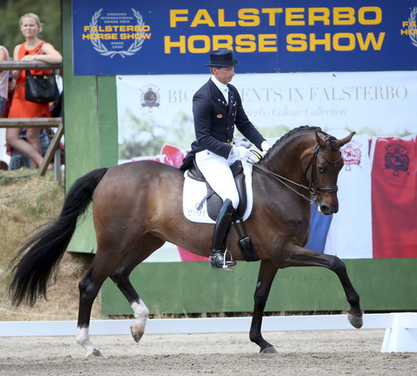 Patrik Kittel and Deja competing in the World Dressage Masters CDI5* in Falsterbo.