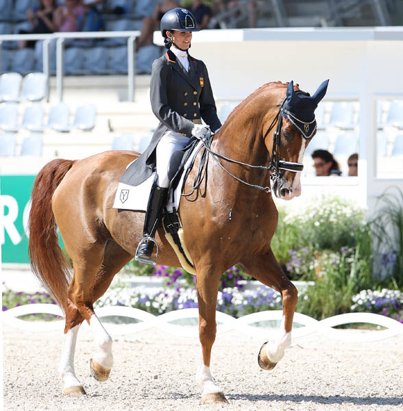 Paula Matute on Tarpan Ymas in the Under-25 Grand Prix at Aachen. © 2014 Ken Braddick/dressage-news.com