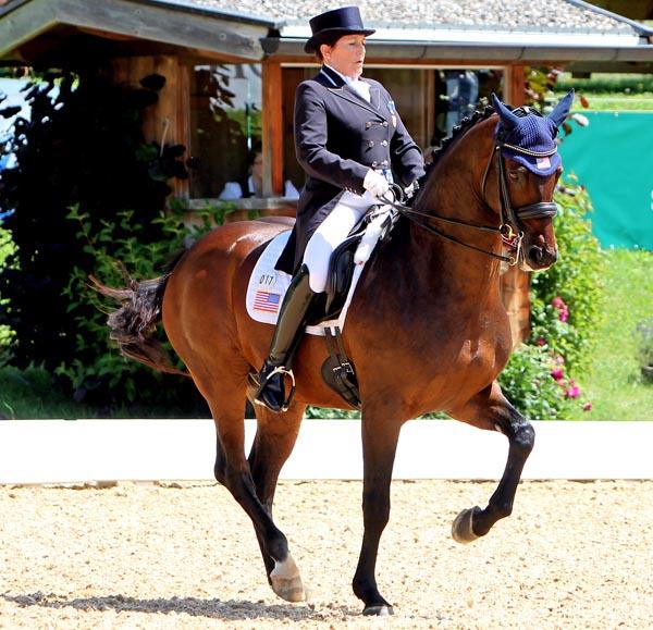 Shelly Francis and Doktor in the Schindlhof CDI4* Grand Prix Special.© 2014 Ken Braddick/dressage-news.com