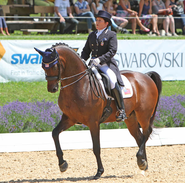 Shelly Francis and Doktor in the Schindlhof CDI4* Grand Prix Special. © 2014 Ken Braddick/dressage-news.com
