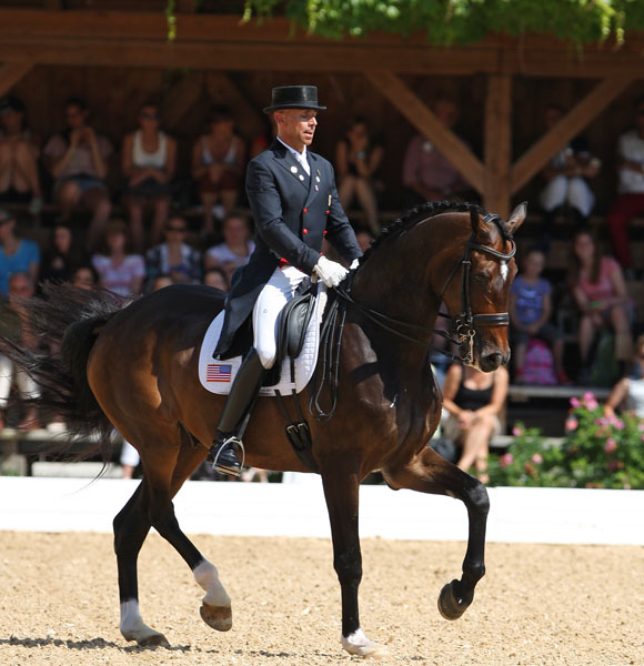 Steffen Peters and Legolas competing in Europe. © 2014 Ken Braddick/dressage-news.com
