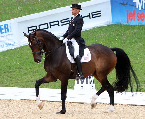 Steffen Peters and Legolas  producing their best result outside California.  2014 Ken Braddick/dressage-news.com