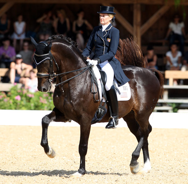 Tina Konyt and Calecto V competing in Europe. © 2014 Ken Braddick/dressage-news.com