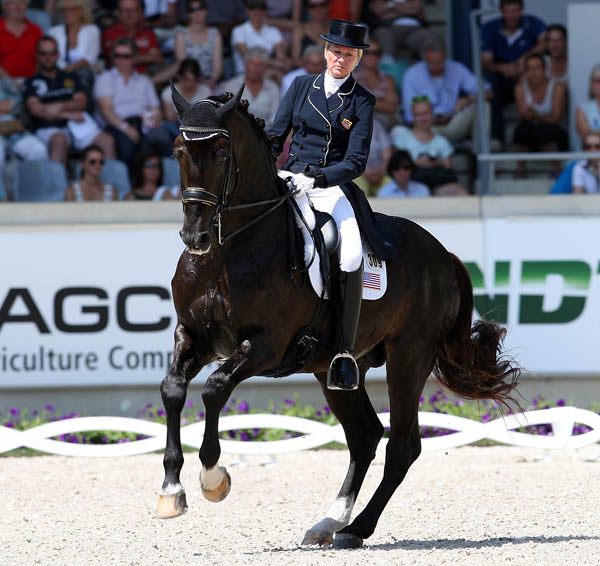 Tina Konyot and Calecto V in the Aachen Nations Cup Grand Prix. © 2014 Ken Braddick/dressage-news.com