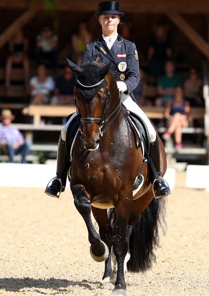 Victoria Max-Theurer on Augustin OLD.  ©  Ken Braddick/dressage-news.com