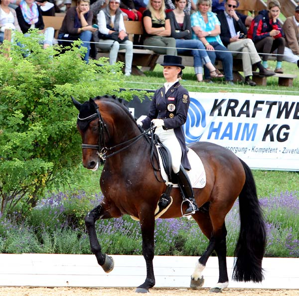 Victoria Max-Theurer and Augustin OLD in the Schindlhof CDI4* Grand Prix. © 2014 Ken Braddick/dressage-news.com