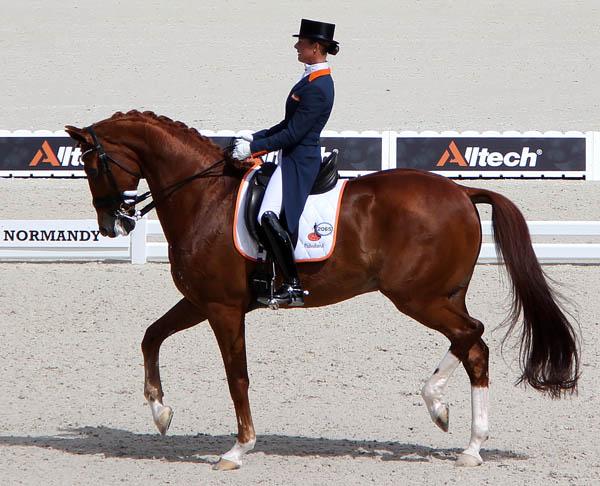 Adelinde Cornelissen and Jerich Parzival, the highest scoring combination on the Netherlands' bronze medal team. ©2014 Ken Braddick/dressage-news.com