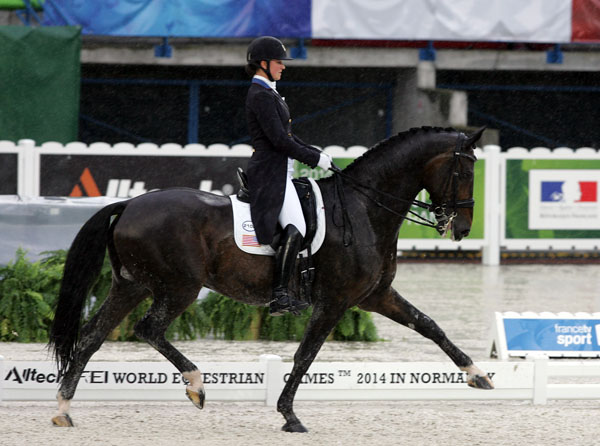 Adrienne Lyle and Wizard competing at the World Games in 2014. © Ken Braddick/dressage-news.com