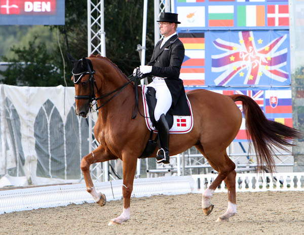 Anders Dahl of Denmark on Wie Atlantico de Ymas in the Hickstead Nations Cup Grand Prix. © 2014 Ken Braddick/dressage-news.com