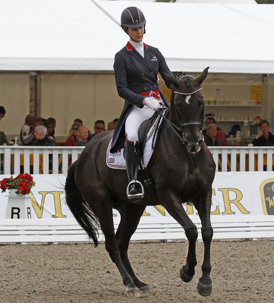 Caroline Roffman on Her Highness O in the Verden Grand Prix. © 2014 Ken Braddick/dressge-news.com