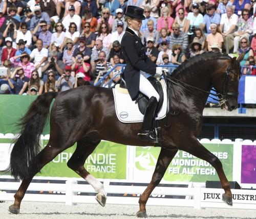 Silver medalists, Helen Langehanenberg and Damon Hill © Ilse Schwarz dressage-news.com