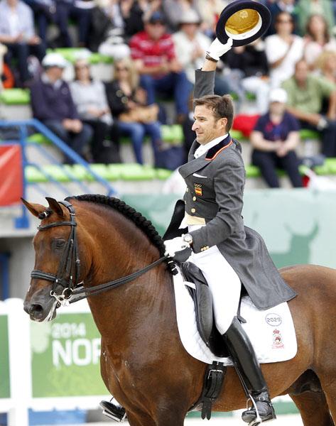 Jose Daniel Martin Dockx of Spain on Grandioso at the World Equestrian Games in Normandy. © 2014 Ken Braddick/dressage-news.com