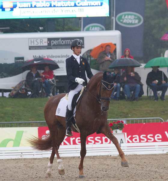 Juan Matute riding Jamaicano de Ymas III at Verden, Germany. © 2014 Ken Braddick/dressage-news.com