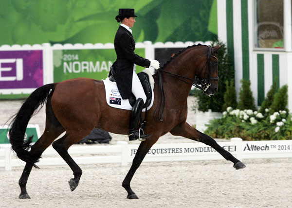 Lyndal Oatley on Sandro Boy. © Ken Braddick/dressage-news.com