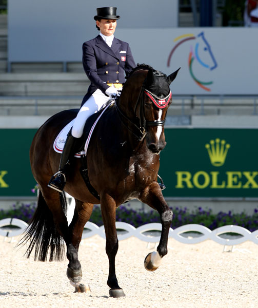 Mikala Gundersen on My Lady riding for D`Ken Braddick/dressage-news.com