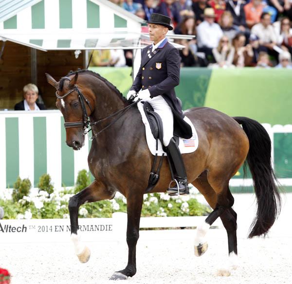 Steffen Peters on Legolas in the World Equestrian Games Grand Prix Special. © 2014 Ken Braddick/dressage-news.com