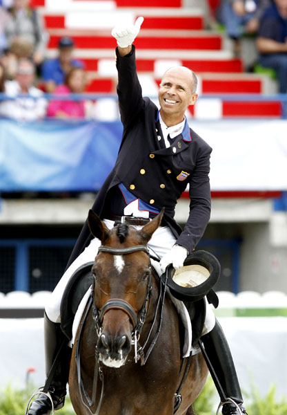 Steffen Peters on Legolas at the World Equestrian Games. © 2014 Ken Braddick/dressage-news.com