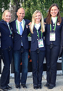 USA dressage team of Tina Konyot, Steffen Peters, Lsura Graves and Adrienne Lyle.