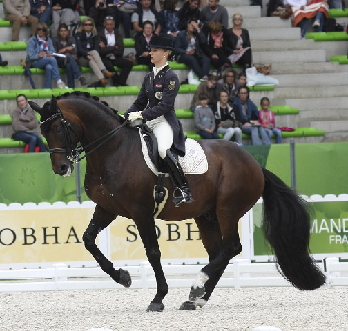 Victoria Max-Theurer on Augustin Old in the Grand Prix Special. © 2014 Ilse Schwarz/dressage-news.com