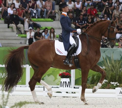 Bronze medal for Adelinde Cornelissen and Jerich Parzival © Ilse Schwarz dressage-news.com