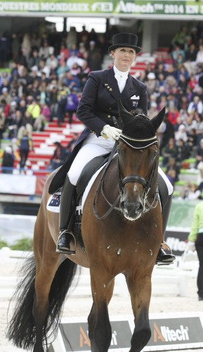 A dejected Kristy Oatley after the Grand Prix © Ilse Schwarz dressage-news.com