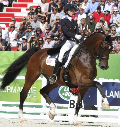 Laura Graves and Verdades of the USA, from unknown into 5th place © Ilse Schwarz dressage-news.com