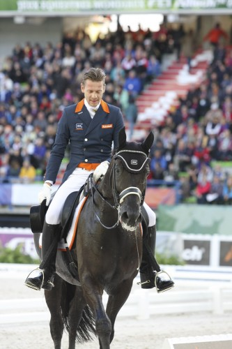The face of Edward Gal says it all after his ride on Glock's Voice © Ilse Schwarz dressage-news.com