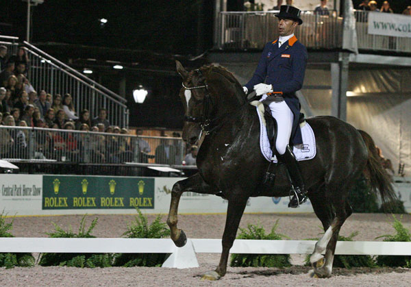 Hans Peter Minderhoud on Glock's Flirt. © 2014 Ken Braddick/dressage-news.com