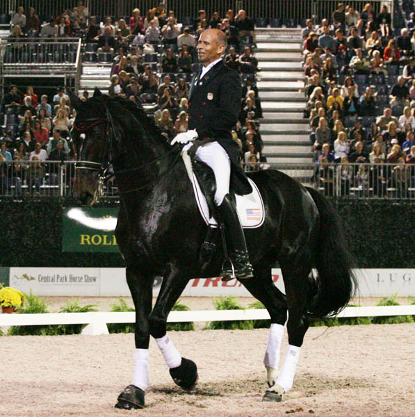 The performance by Steffen Peters and Ravel won the pair a standing ovation. © 2014 Ken Braddick/dressage-news.com