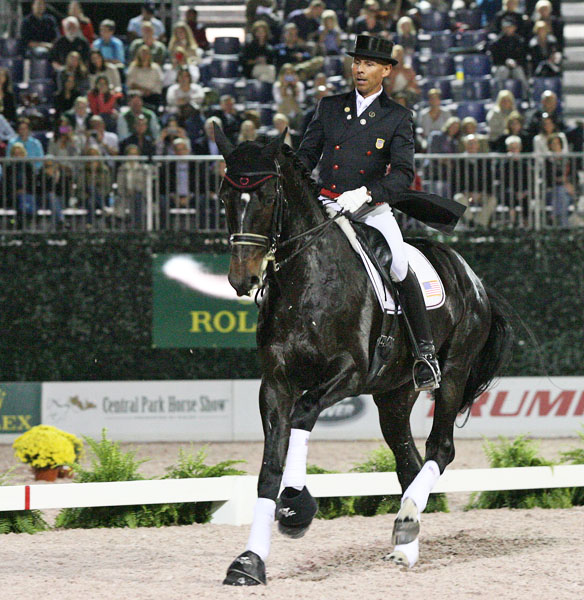 Ravel being ridden by Steffen Peters at the Central Park Horse Show in New York. © 2014 Ken Braddick/dressage-news.com