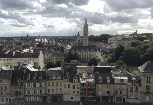 The spectacular view of Caen from the walls of William the Conquerer's castle ©Ilse Schwarz dressage-news.com