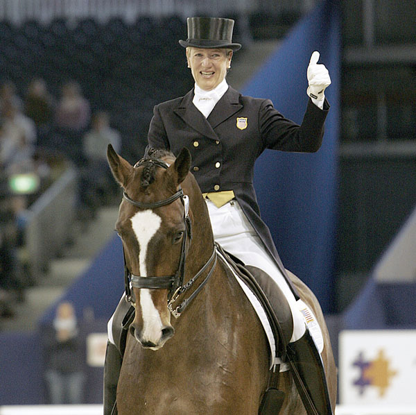 "Arlene ""Tuny"" Page and Wild One at the 2006 World Cup Final in Amsterdam. © Ken Braddick/dressage-news.com"