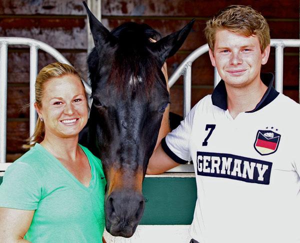 Devon Kane with Kevin Kohmann and Destiny at Diamante Farms. © 2014 Ken Braddick/dressage-news.com