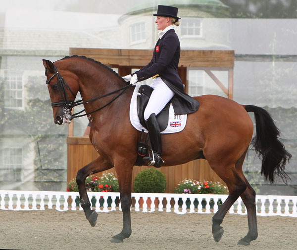 Lara Griffith competing Andretti H in England.  2014 Ken Braddick/dressage-news.com