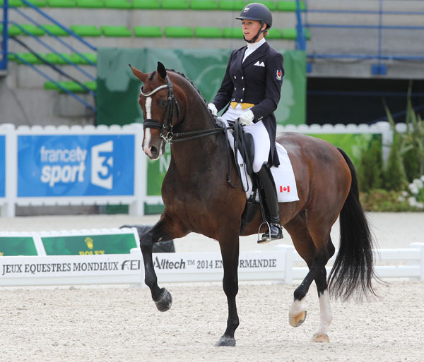 Megan Lane on Caravella. © Ken Braddick/dressage-news.com