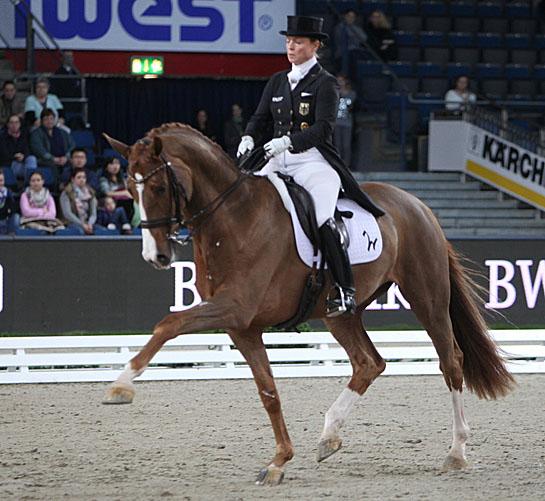 Bella Rose ridden by Isabell Werth at Stuttgart.