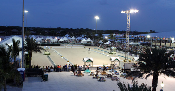 """Friday Night Lights Freestyle"" at the Adequan Global Dressage Festival. File photo © Ken Braddick/dressage-news.com"