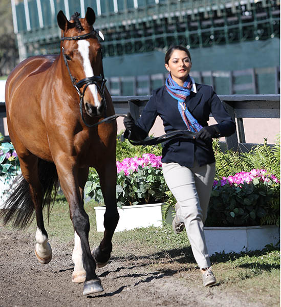 Alexandra Dominguez Thomas of Guatemala and Beijing A. © 2015 Ken Braddick/dressage-news.com