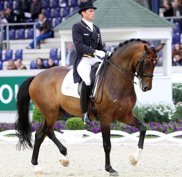 Christoph Koschel riding Rostropowitsch NRW at the World Equestrian Festival in Aachen, Germany. © Ken Braddick/dressage-news.com