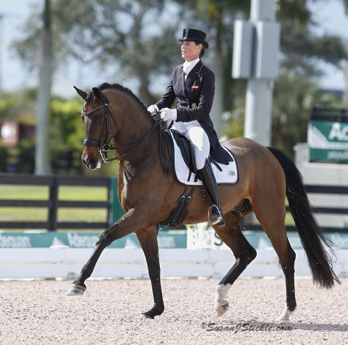 Katharina Stumpf of Austria on Nympenburg's Love the debut combination in the world's fiest CDI Amateur event. © 2015 SusanJStickle.com