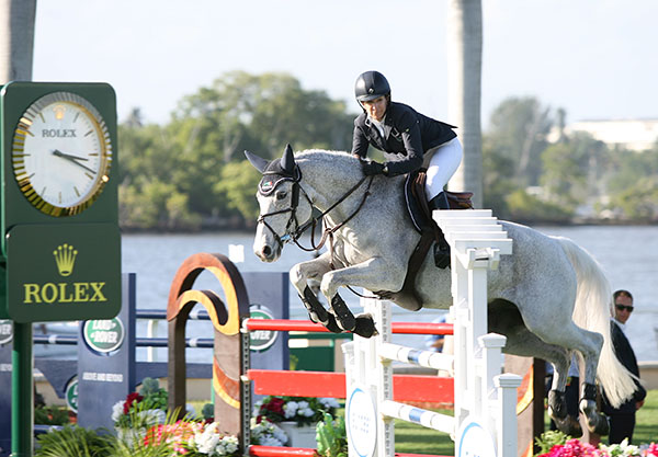 Laura Kraut on Cedric in the $125,000 Trump Invitational at historic Mar a Lago estate on Palm Beach as a curtain raiser for the Global Dressage Festival and Winter Equestrian Festival that get underway in Wellington this week. © 2015 Ken Braddick/dressage-news.com
