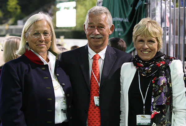 Linda Zang (left) with Stephen Clarke of Great Britain and Katrina Wüst of Germany. © Ken Braddick/dressage-news.com