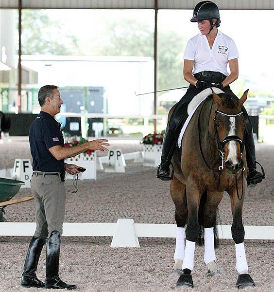 Robert Dover teaching at his HorseMastership Week at Florida's Global Dressage Festival. © 2015 Ken Braddick/dressage-news.com
