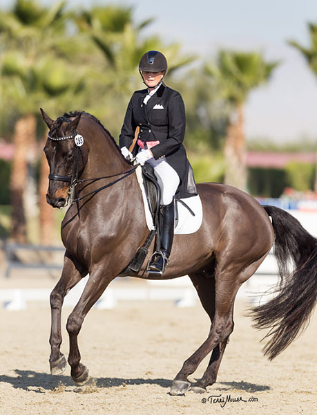 Ann Romney riding Donatello at Thermal, California. © 2015 TerriMiller.com